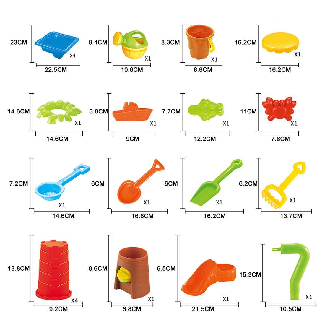 24 шт Детские пластиковые песочные ямы набор пляжный песок настольные игрушки для водных игр подарки для детей Дети-цвет случайный