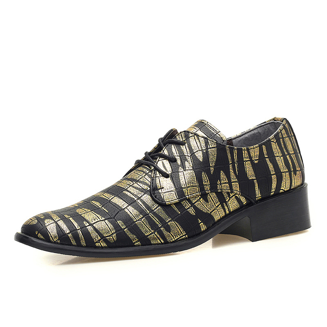 high quality mens trend camo leather shoes man camouflage leisure party shoes printing midi beach oxfords leather shoes golden