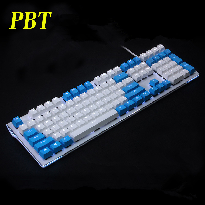 Backlit 108 ANSI ISO-layout Dikke PBT Keycap Double shot Backlight - Computerrandapparatuur - Foto 4