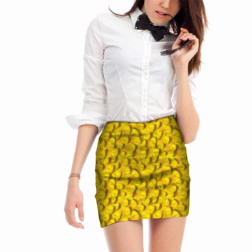 Бесшумные дизайнерские сексуальные женские 3D Перьевые принты для женщин вечерние юбки-Карандаш Офисные женские эластичные летние дышащие мини юбки