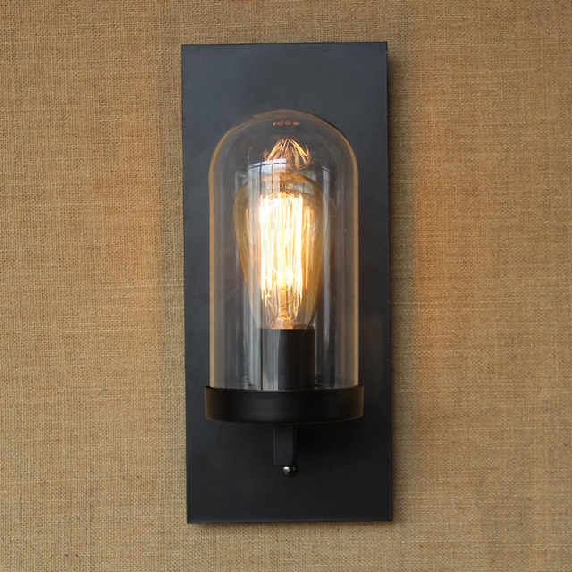 Retro Vintage Edison Wall Lamp Loft Wall Sconce Candle Holder Style Bedside  Wall Light Antique Lamp