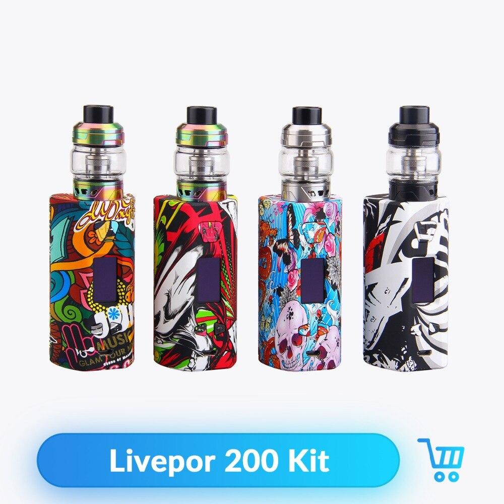 D'origine Yosta Livepor 200 Kit 6 ml Capacité Alimenté par 18650 Batterie avec IGVI M2 Atomiseur Réservoir Vaporisateur Boîte Mod E Cigarette Kit