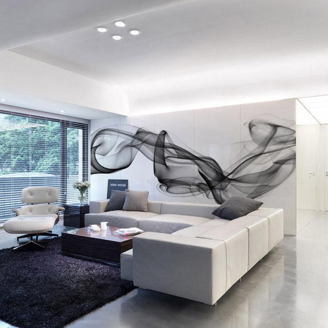 online-shop individuelle fototapeten moderne 3d wandbild tapete ... - Wohnzimmer Tapeten Schwarz Weis