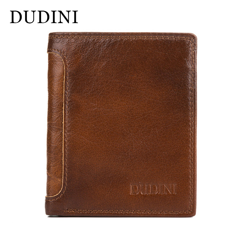 [DUDINI] New Arrival Retro Men's Wallets Genuine Leather Wallet Luxury Card Holder Dollar Price Vintage Mens Purse Brand Design 2016 new arrive pvc and pu leather purse american marvel comic deadpool wallet with card holder dollar price free shipping
