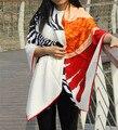 Bufandas Bufanda de Seda Para Las Señoras de Color Beige 2016 Nuevo Diseño 100% pura Seda Bufandas Wraps 130*130 CM Caballo de la Cebra de Impresión Larga de Las Mujeres bufandas