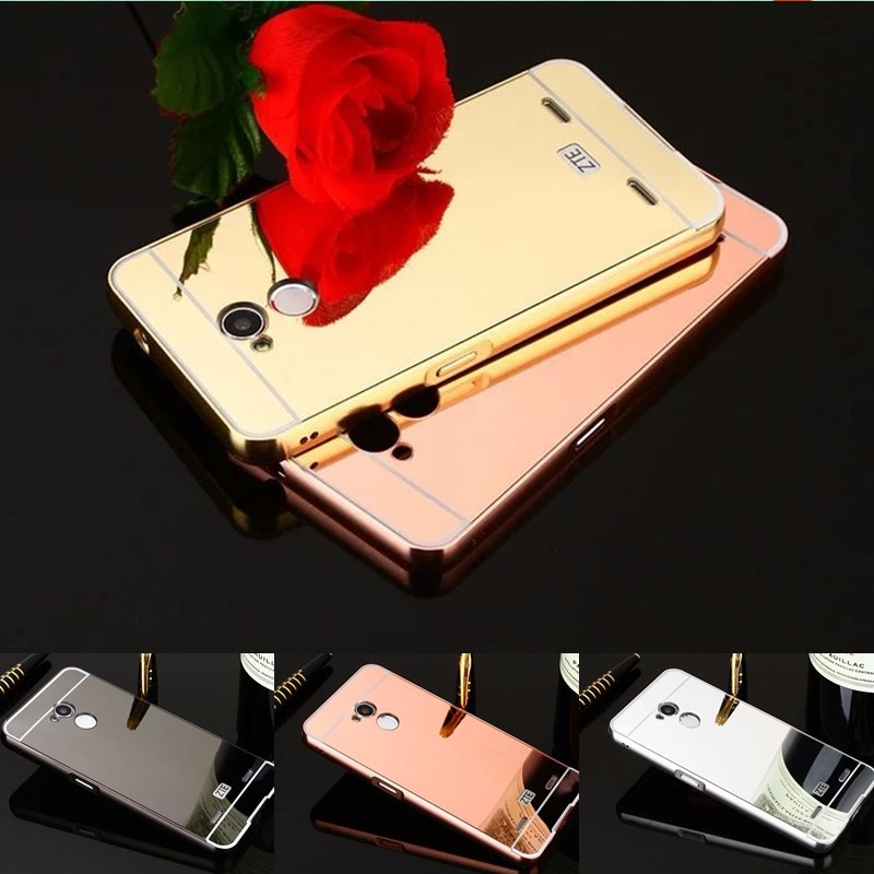 Mirror Armor Back For ZTE Blade V7 Lite Capa Coque Gold Plating Metal Aluminum Frame Shell Housing For Funda ZTE Blade V7 Lite
