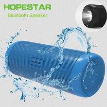 Hopestar Bluetooth на открытом воздухе Динамик Беспроводной портативный сабвуфер велосипед Водонепроницаемый Поддержка TF FM Xiaomi с Мощность Bank фонарик