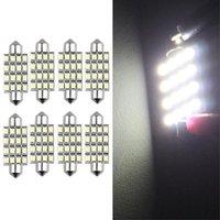 10x) 8 lampadine siluro 16 led smdビアンコルーシーinterno 42ミリメートル