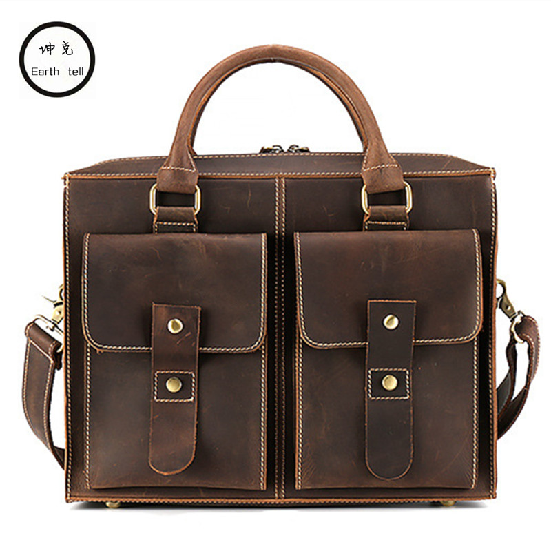 Men Messenger Bags Vintage Crazy Horse Genuine Leather Man Shoulder Crossbody Bags Small Male Bag Commerce Laptop Travel HandbagMen Messenger Bags Vintage Crazy Horse Genuine Leather Man Shoulder Crossbody Bags Small Male Bag Commerce Laptop Travel Handbag