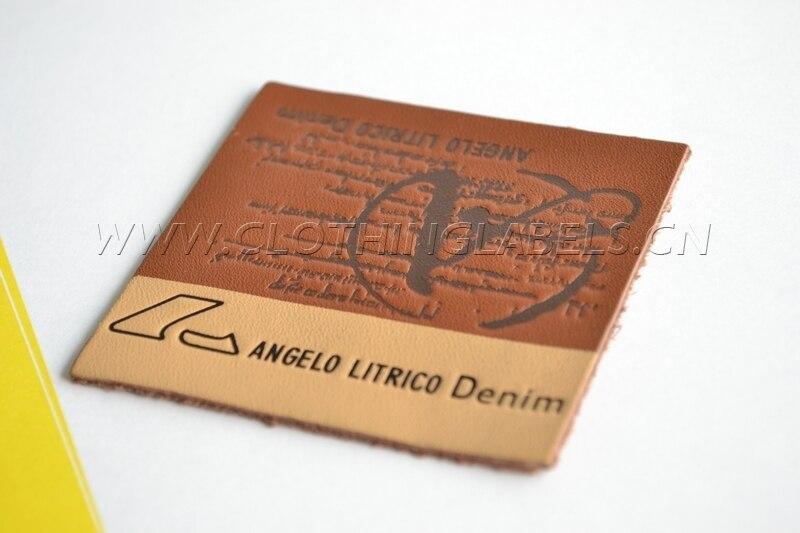 4a50031b74 Personalizado etiquetas para prendas de vestir de cuero real ...