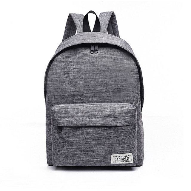 Brand Canvas Men Women Backpack College High Middle School Bags ...