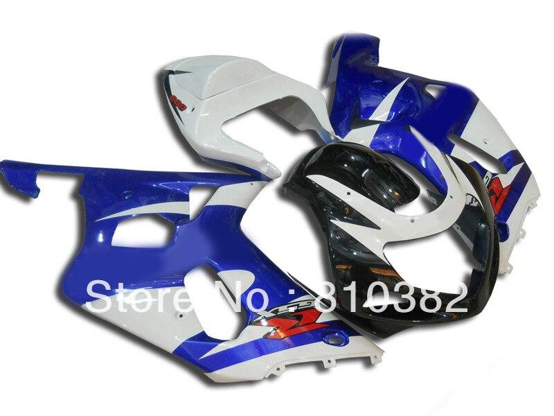 HOT!2014 Fairing kit for SUZUKI GSXR600 750 01 02 03 GSXR 600 GSX-R750 K1 2003 2001 2002 white blue black Fairings set SM66 02 2014