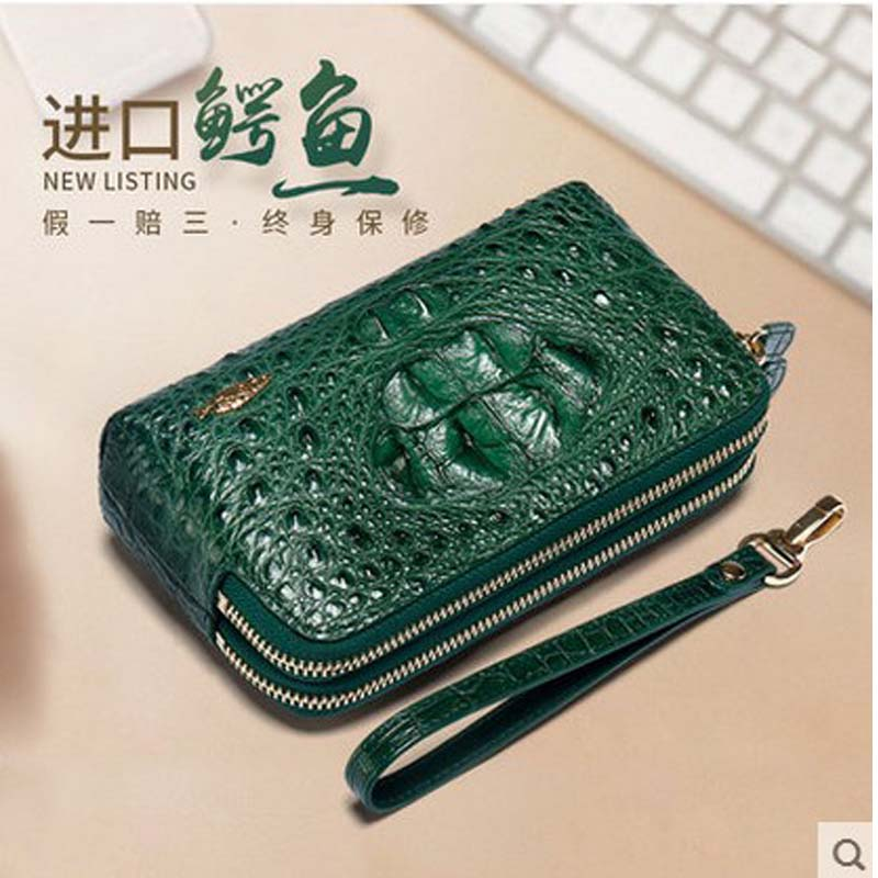 yuanyu 2018 new alligator leather women wallet woman  handbag  genuine leather women clutch bag yuanyu the new alligator wallets long