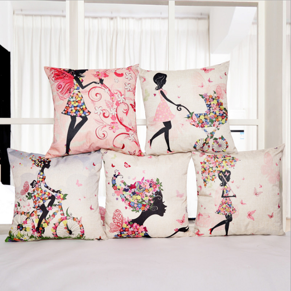 High Quality Car Printed Cotton Linen Blackout Curtain: Hot Color Beautiful Picture Pillow Sets Of High Quality