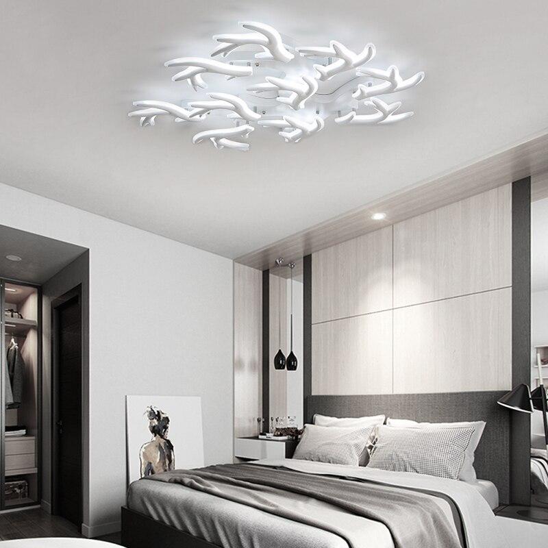 New Antlers Modern LED Ceiling Lights Acrylic Lamp for living room bedroom lamparas de techo colgante moderna