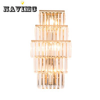 Modern Crystal Wall Lamp LED Wall Lights for Bedroom Crystal Wall Sconce led Lights Wireless Wall Lamp for Living Room Lighting