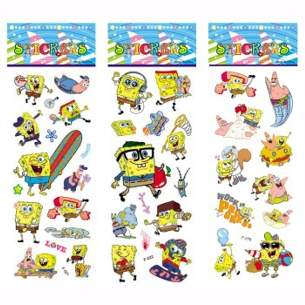3 Sheets/set cute cartoon stickers for kids Home decor
