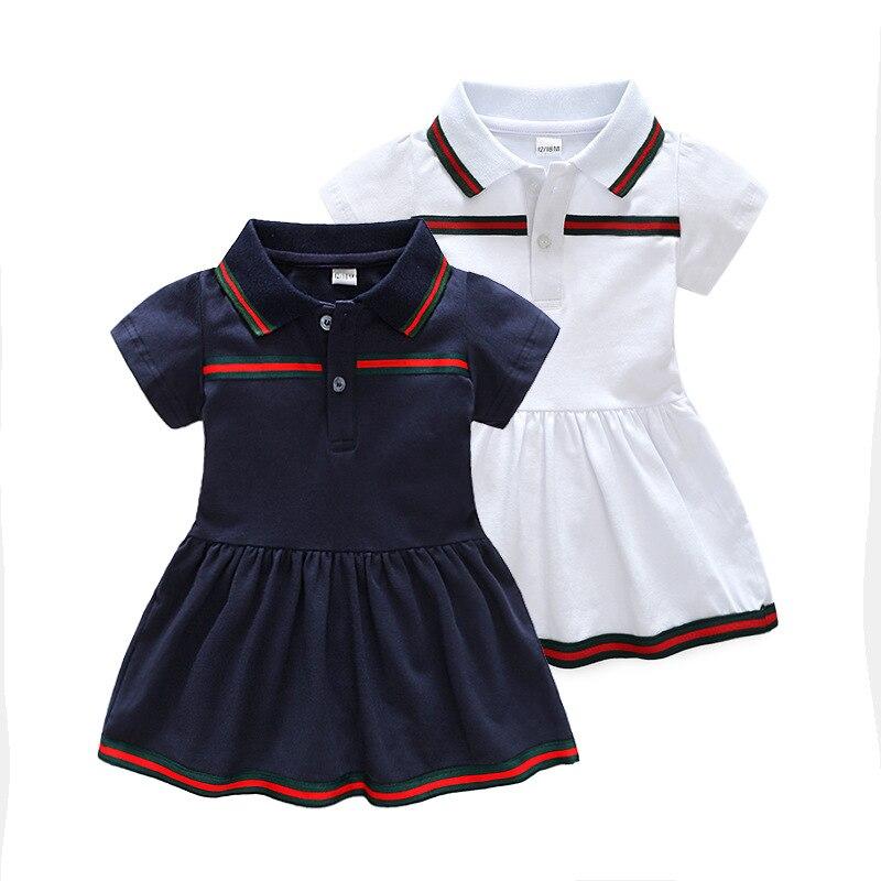 e54d1f218c2 2019 New summer baby dress cotton lapel children s dress newborn clothes  kids dresses for girls toddler