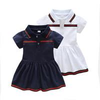 2019 New summer baby dress cotton lapel children's dress newborn clothes kids dresses for girls toddler christmas dress