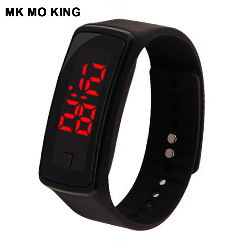 Fashion Korean LED Men's Women's Sports Electronic Bracelet Watch Casual Silicone Candy Color Wrist Watch Clock Girl Gifts Dw Mk