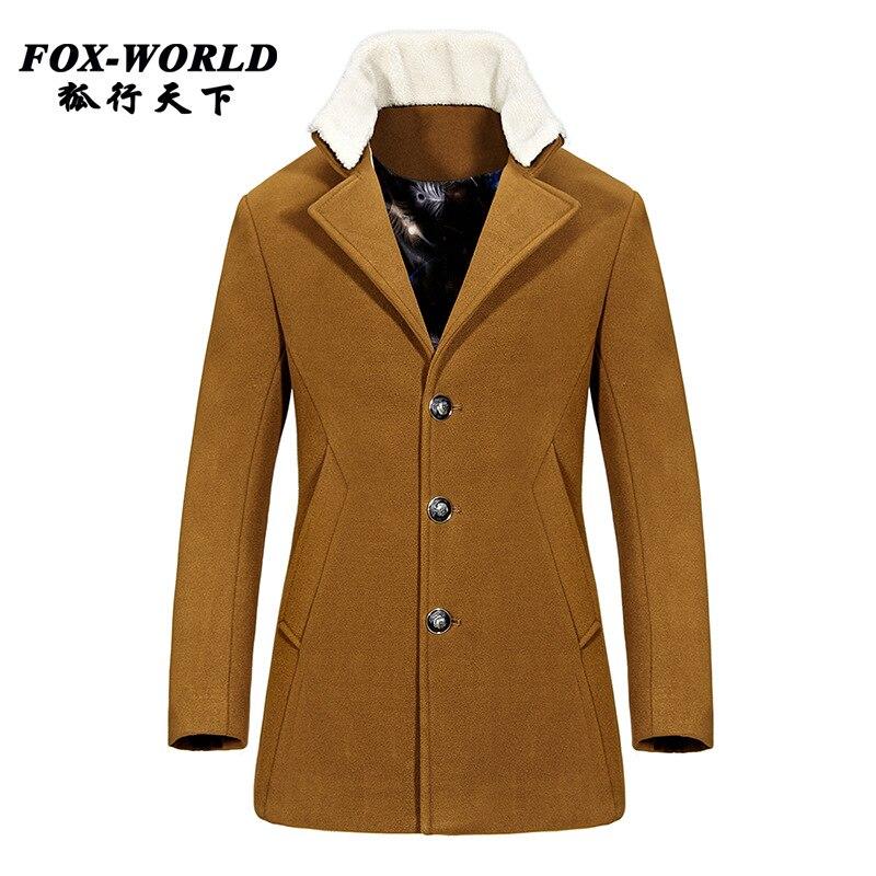 Popular 100 Wool Pea Coat-Buy Cheap 100 Wool Pea Coat lots from ...
