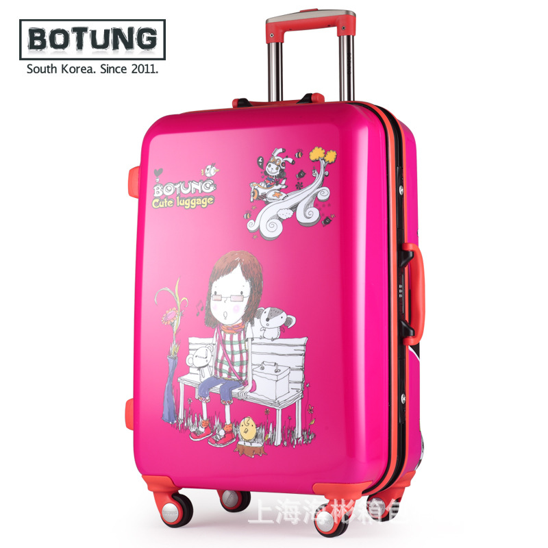 Children's cartoon girls students luggage pull rod box wanxianglun cartoon box 20 inch 24 inch luggage JJ170077