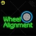 Выравнивание колеса неоновая световая вывеска стеклянная трубка ручной работы неоновые лампы знак комната отдыха гараж настенная неонова...