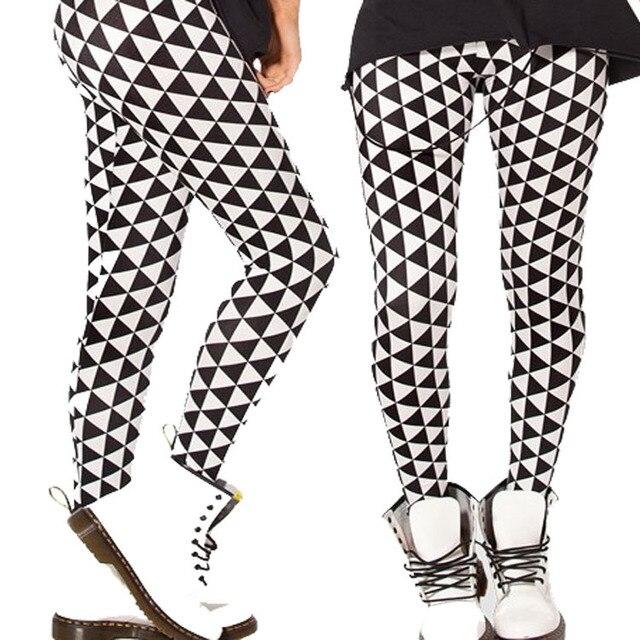 Women Leggings 2016 Black Milk Digital Sky Black Diamond Printed Leggings Pencil Leguin Gaiterts Boothose