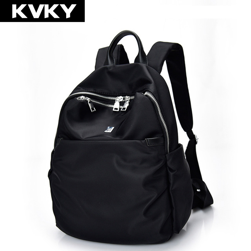 KVKY Brand Women Backpack Waterproof nylon School Bags Students Backpack Women Travel Bags Shoulder Bag for Teenager Girls logitech g100 wired usb 2 0 2500dbi optical gaming mouse black white