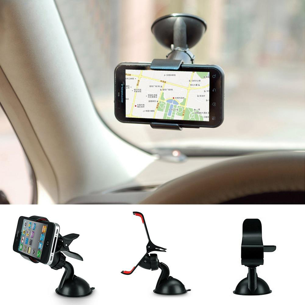 Universal 360 Degrees Rotation Car Mobile Phone GPS Sucker Holder Clip Stand