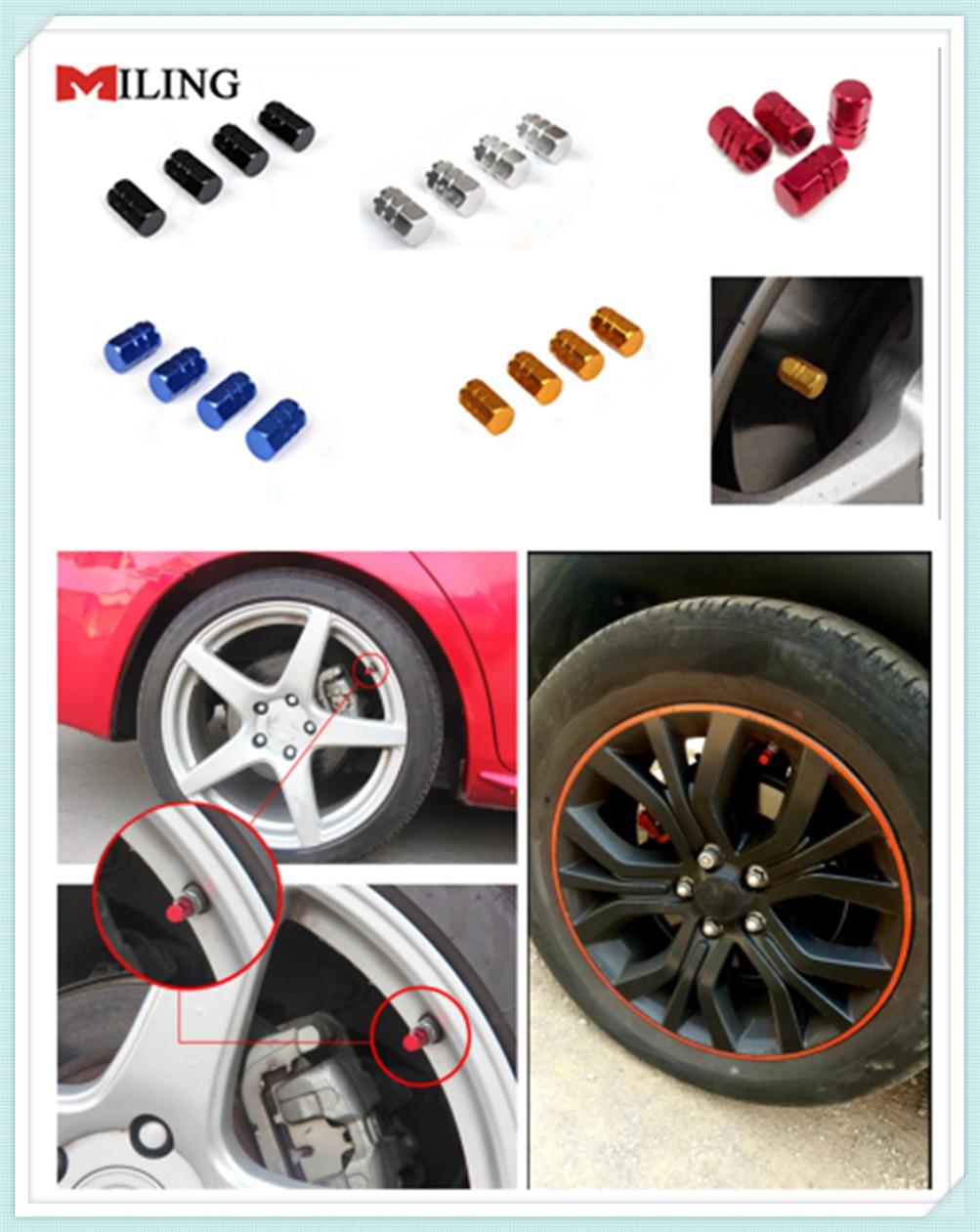 4 Pieces Wheel Tyre Tire Valve Stems Air Dust Cover Screw Caps Car Gold