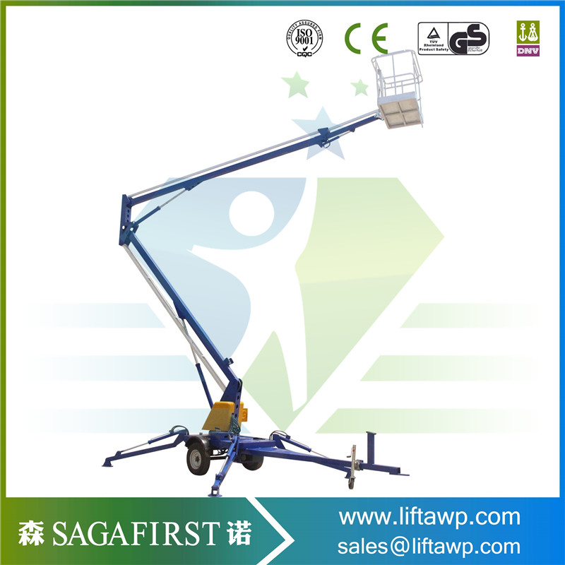 SINOFIRST Great Quality Towable Trailed Hydraulic One Man Snorkel Boom Lift For Sales