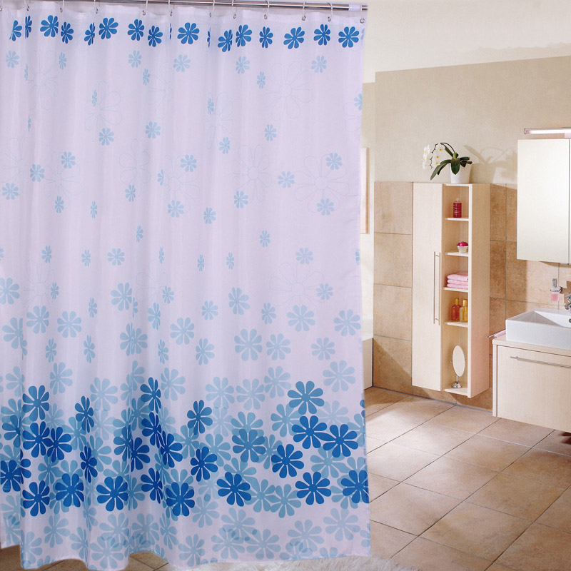 Flower Shower Curtain Bath Curtains Bathroom Cortina Waterproof Polyester Floral Cover With 12pcs Hooks 180 x 180cm 180 x 200cm