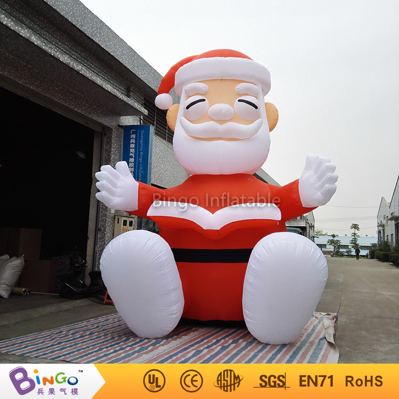 outdoor party events 5m giant inflatable Christmas sitting Santa Claus cartoon for party festival toy inflatable cartoon customized advertising giant christmas inflatable santa claus for christmas outdoor decoration
