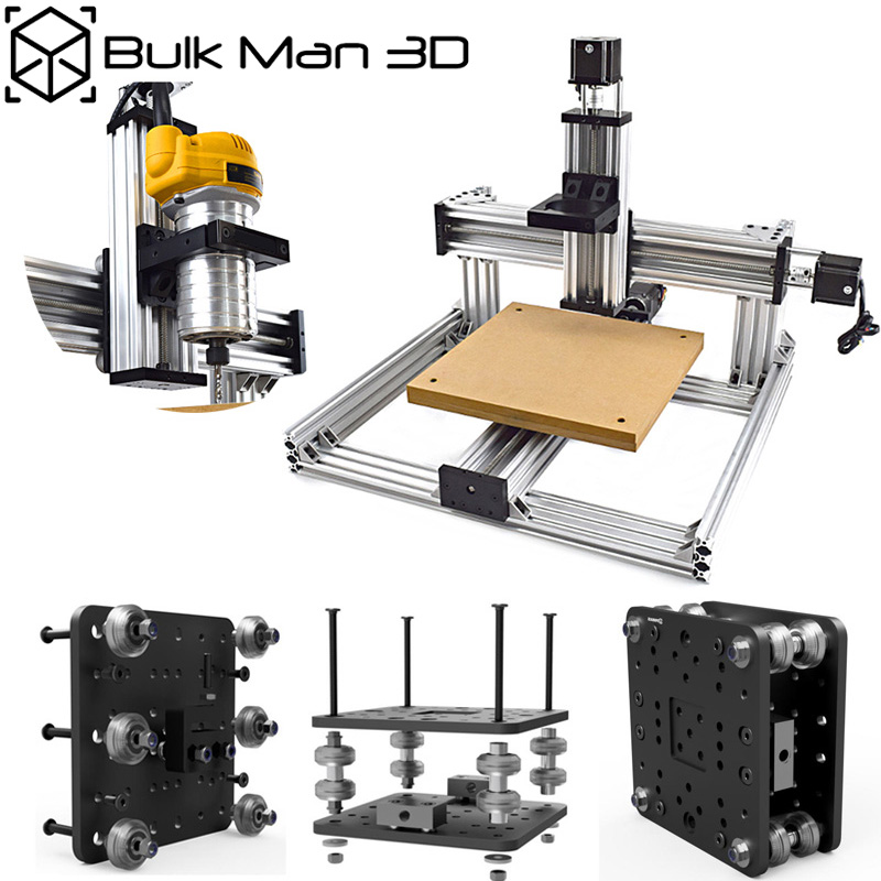 Free Shipping 3Axis C-Beam CNC Machine Mechanical Kit Desktop DIY C-Beam Frame Kit With 175 Oz*in Nema23 Stepper Motors