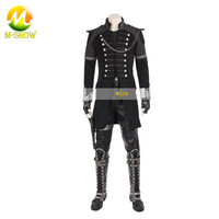 Kingsglaive Final Fantasy XV Nyx Ulric Cosplay Costume Adult Men Costume Cosplay Black Jacket Movie Suit With Boots Tailored