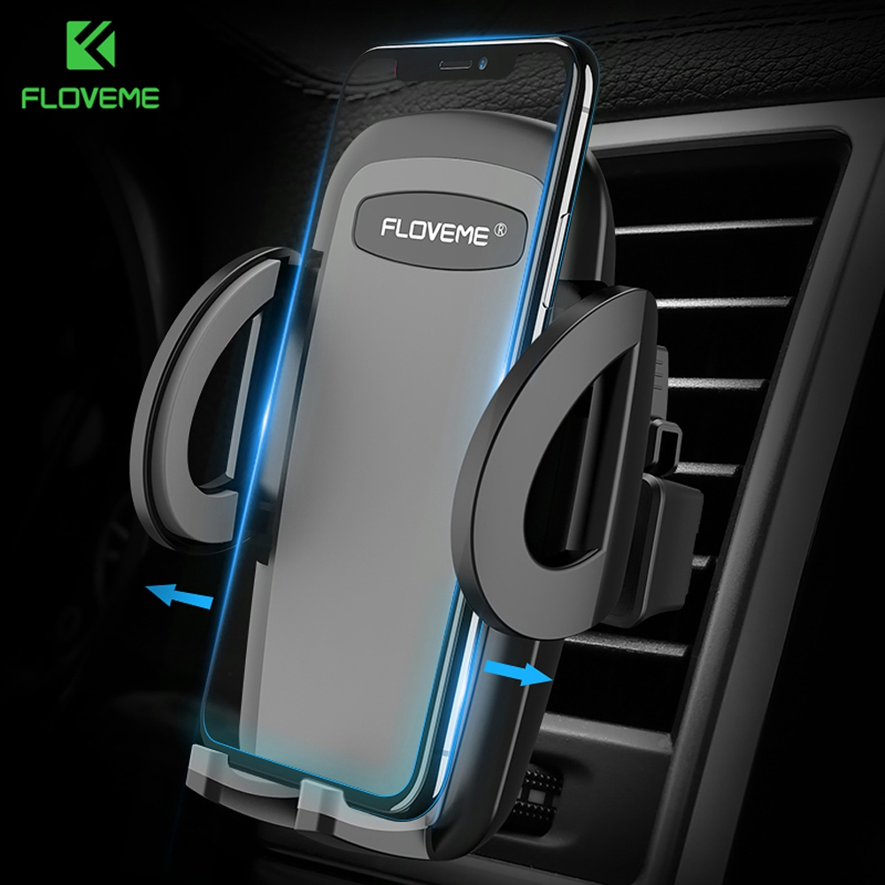 FLOVEME Car-Phone-Holder Air-Vent-Mount iPhone Universal Samsung for S9 S8-Plus One-Click-Release