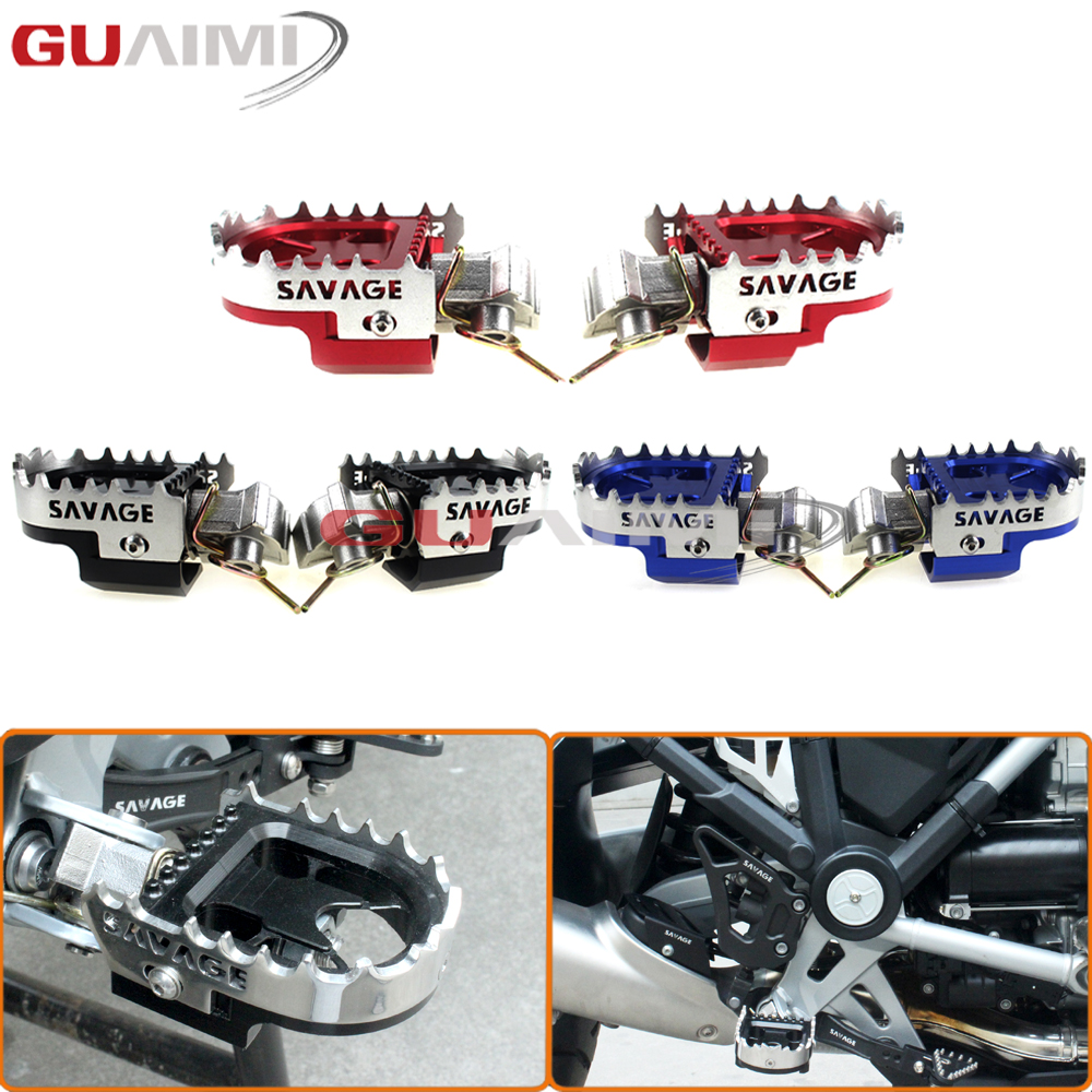 For BMW R1200GS/F800GS/F700GS/F650GS/YAMAHA/HONDA/KTMMotorcycle Wide Enduro Foot Pegs Rests Tilt Angle Adjustable Footpegs