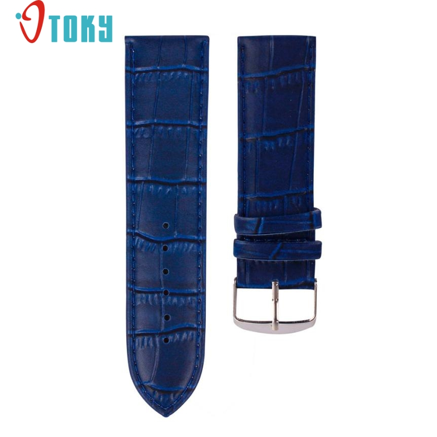 SUNWARD Hot Unique  22mm High Quality Soft Sweatband Leather Strap Steel Buckle Wrist Watch Band Drop ship F15 high quality soft sweatband leather strap steel buckle wrist watch band 3522 brand new luxury free shipping