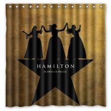 2016 Hamilton Broadway Musical Waterproof Polyester Shower Curtain Mildewproof Bath Curtains Cortinas Para Banheiro 180x180CM