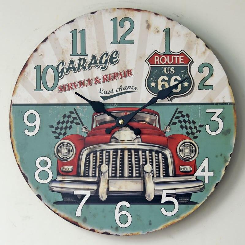 Frameless Home Decor Wooden Wall Hanging Clocks European Style