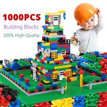 Оригинальное качество, 1000 шт., строительные блоки, подходят с LegoINGs, кирпичи, раннее образование, складные игрушки для детей, подарок на день рождения