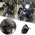 """5.75"""" 5-3/4"""" Motorcycle Projector 40W LED Lamp Headlight For Harley Sportster, Iron 883, Dyna, Street Bob FXDB"""