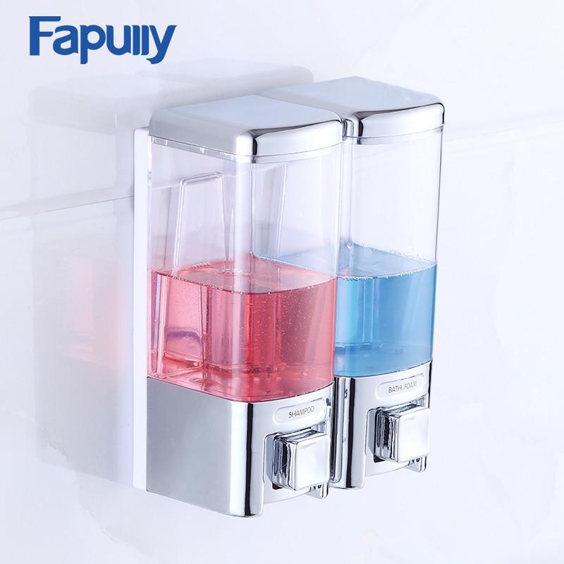 Fapully Hand Liquid Soap Dispenser Wall Mounted Bathroom Bath Shower Accessories