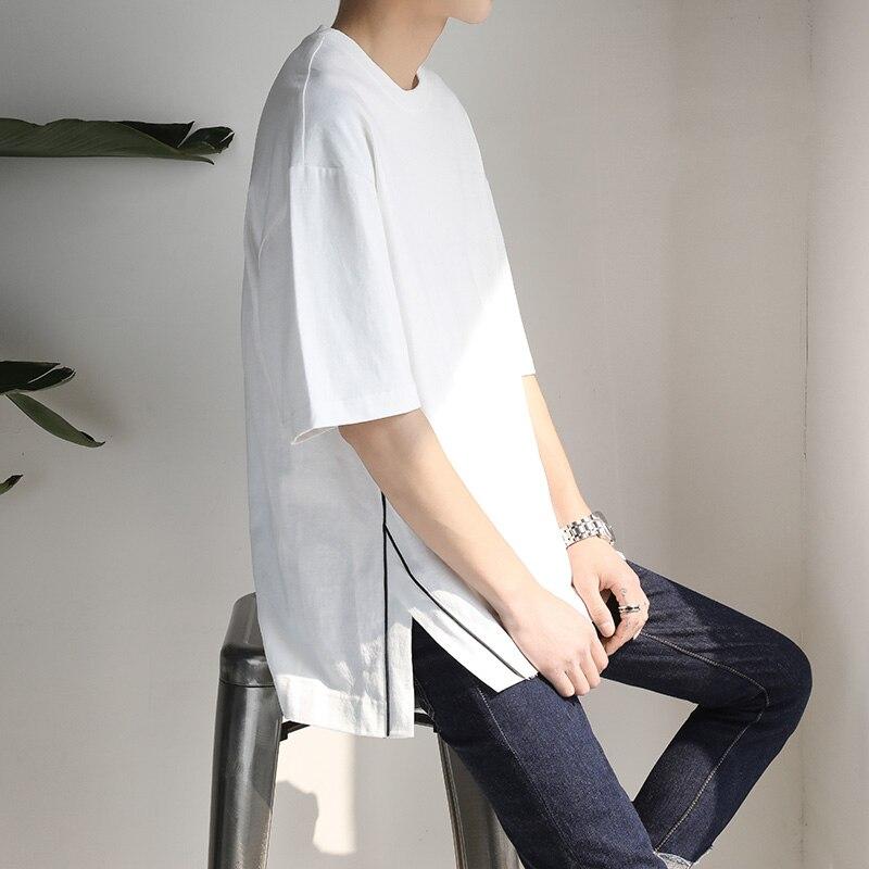 M-5XL!! 2018 Big yards été lâche bf couleur unie à manches courtes T-shirt adolescent décontracté balayage placketing top t-shirt