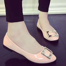 AD AcolorDay New Arrival 2017 Summer Women's Shoes Solid Round Toe Slip on Women Loafers	 Lightweight Ballerina Flats Big Size