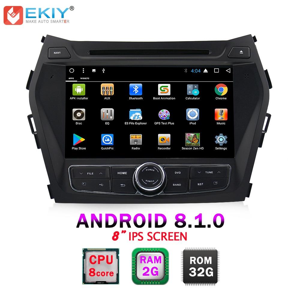 EKIY 8 2 Din Android 8.1.0 Voiture DVD Lecteur Multimédia Pour Hyundai Santa Fe IX45 Auto GPS Navi Radio stéréo Musique Audio Tête Unité