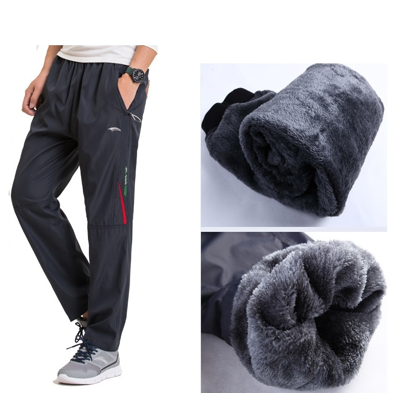 Grandwish Winter Fleece Pants Men Plus Size 3XL Pantalones gruesos de - Ropa de hombre - foto 1