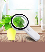 30X Magnification Handheld Magnifier With LED Light Outdoor Carrying Survival Tool Adventure Reading Identification Antique