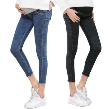 цена на Ninth Pants Maternity Clothes Maternity Jeans For Pregnant Women Clothes Skinny Denim Stretch Jeans Pregnancy Pant Spring Summer